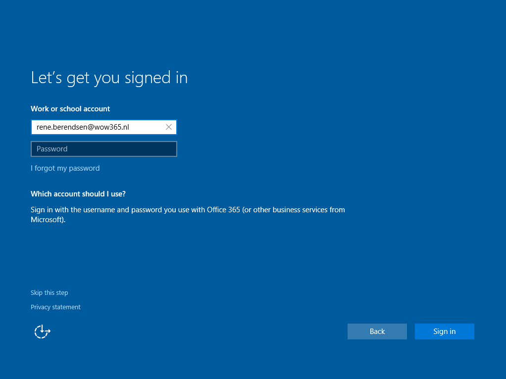 Let's get you signed in | Sign in with the username and password you use with Office 365 (or other business services from Microsoft).