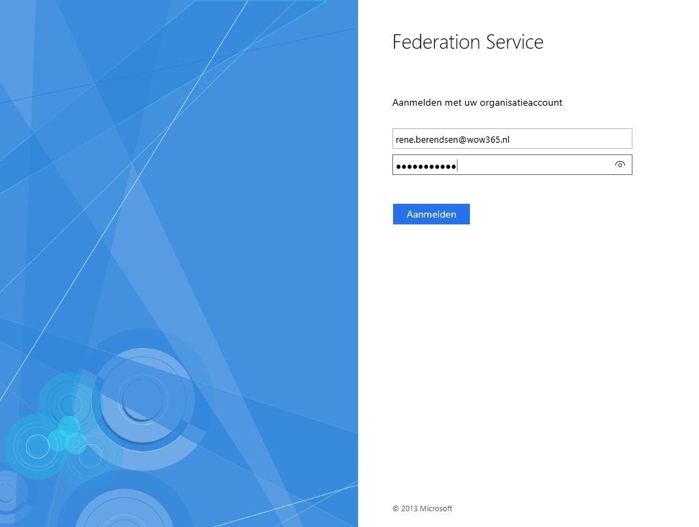Federation Services   Aanmelden met uw organisatieaccount
