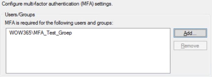 ADFS-MFA-Groep