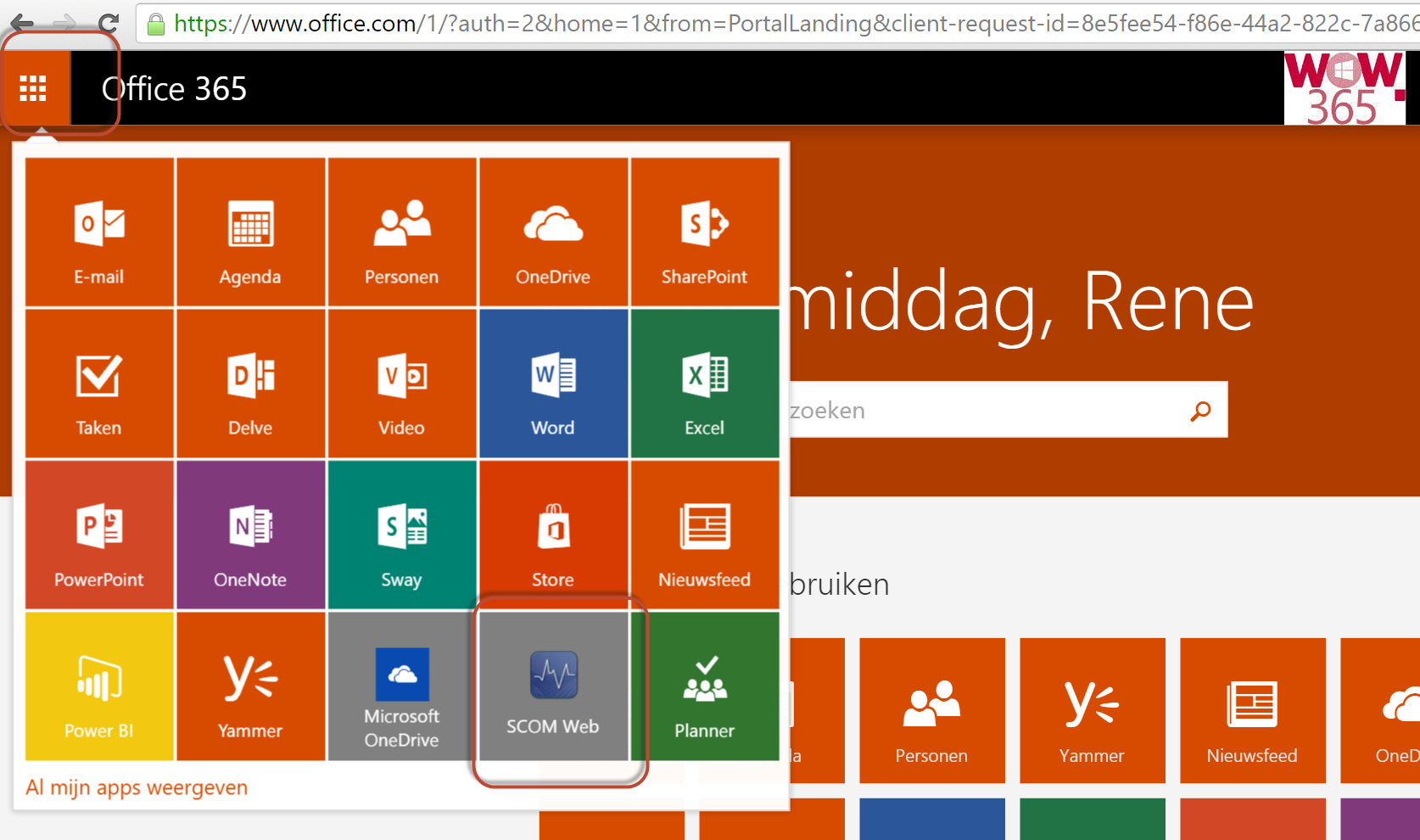 Office 265 QL Menu met App Proxy