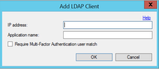 Add LDAP Client (voor User Match)