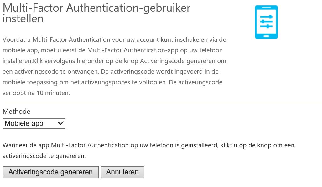 MFA aanmelden authenticatie