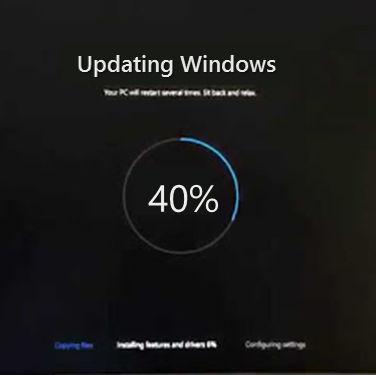 Updating Windows 10 | 40%